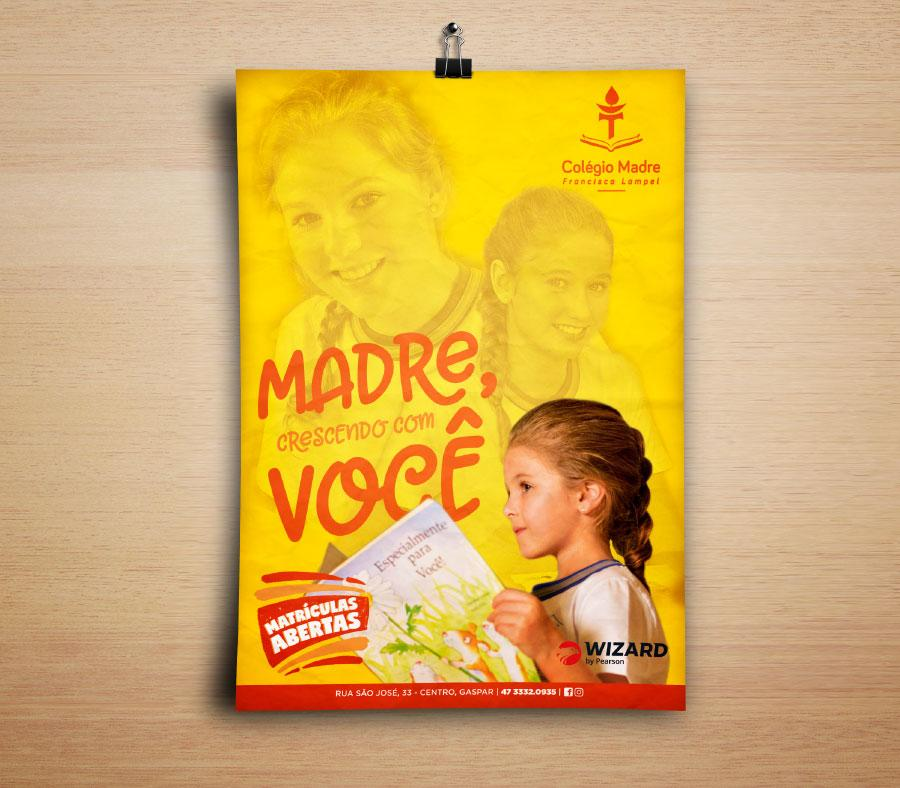 cartaz colégio madre