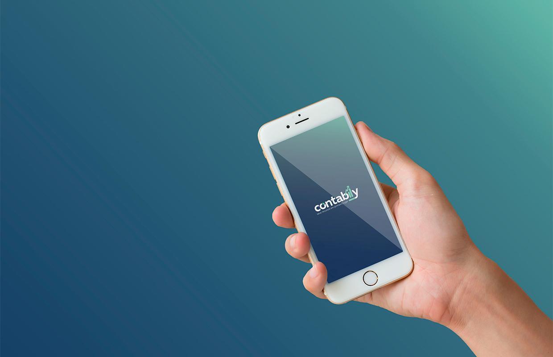 logo contabily cellphone