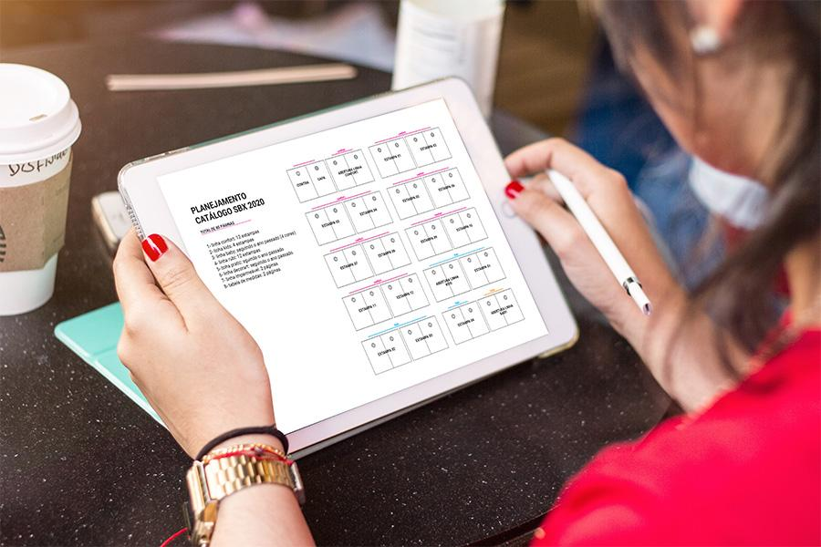 planejamento de catálogo