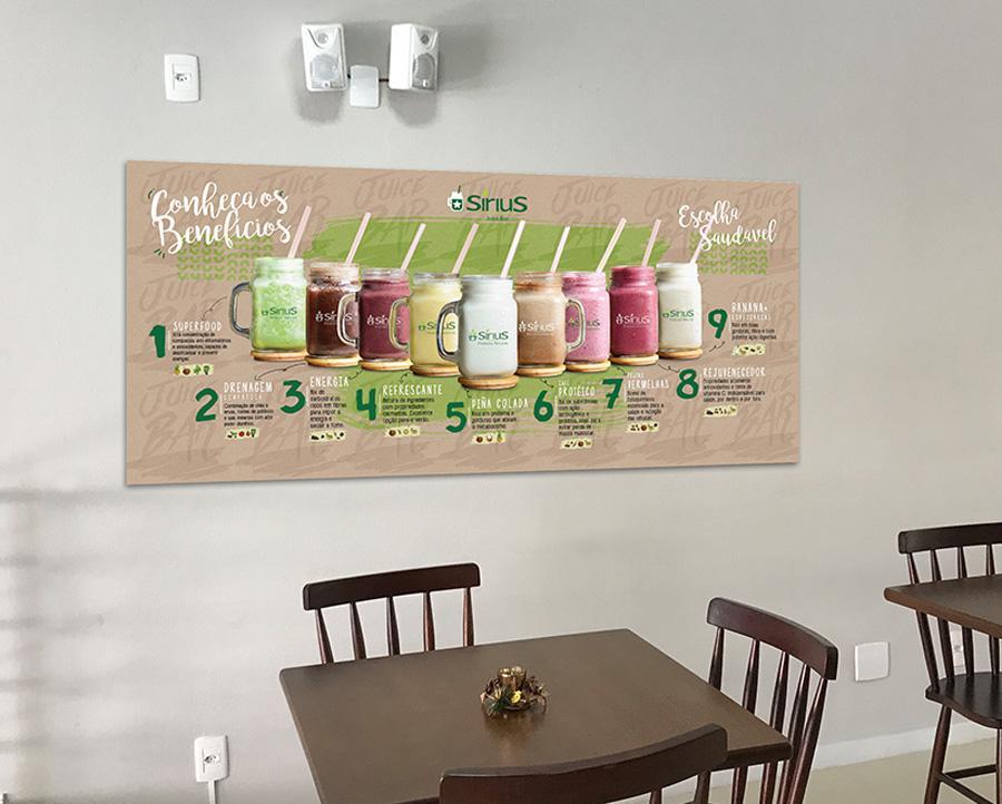 juice bar adesivo sirius produtos naturais