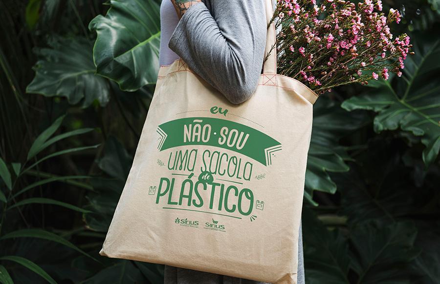 ecobag não sou plástico sirius produtos naturais