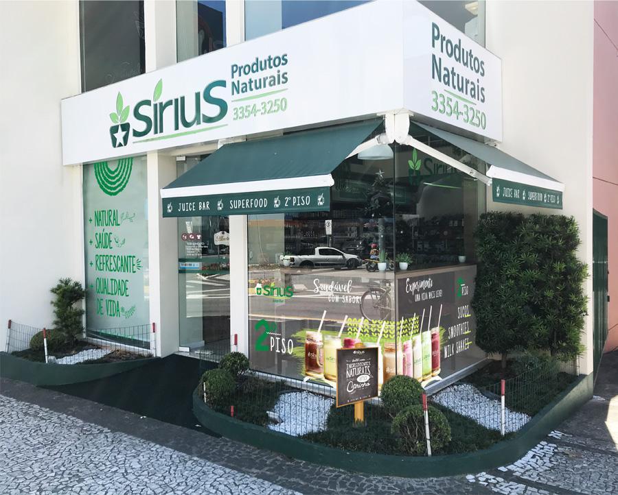 fachada loja sirius