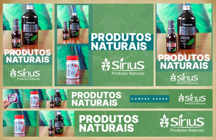 rede de display sirius produtos naturais
