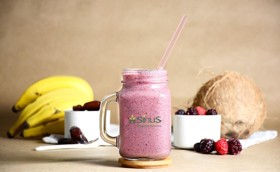 frutas vermelhas smoothie sirius produtos naturais