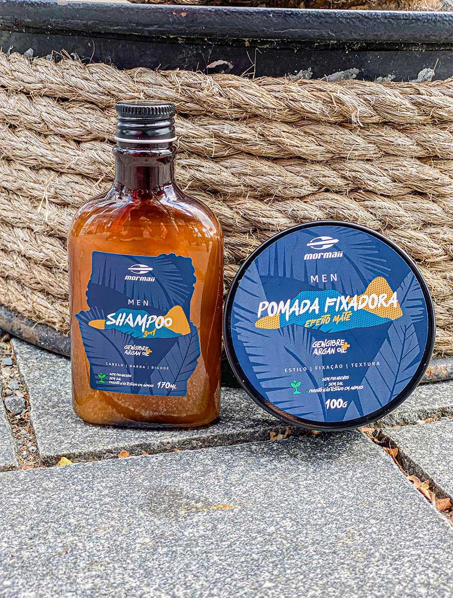 shampoo e pomada mormaii